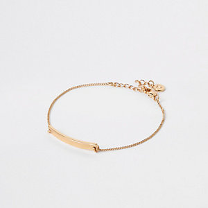 Gold plated bar bracelet