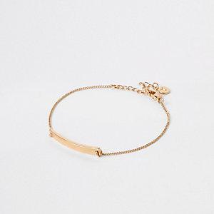 Bracelet plaqué or à barre
