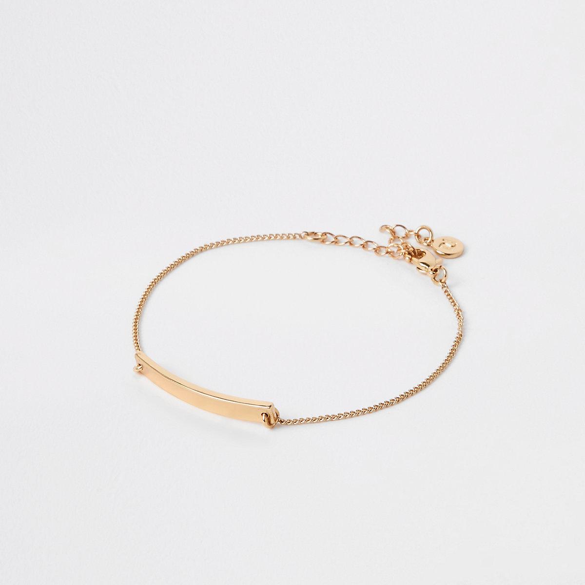 Gold plated bar bracelet