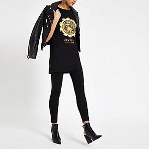 Zwart boyfriend T-shirt met 'Gracieux'-print