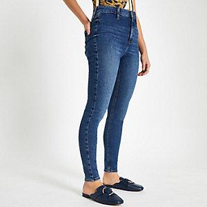 Petite blue Kaia high rise disco jeans