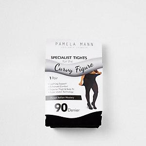 Schwarze Plus-Size-Strumpfhose, 90 Denier