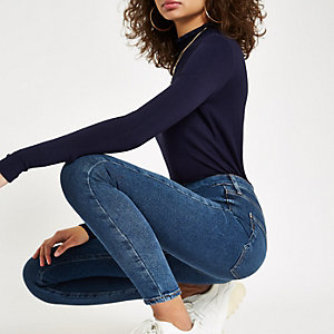 Mid blue Kaia high rise disco jeans