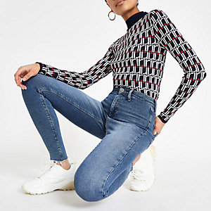 Light denim Kaia high waisted disco jeans