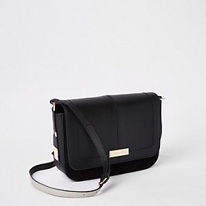 Black pouch cross body bag