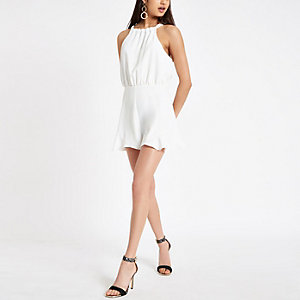 White frill trim playsuit