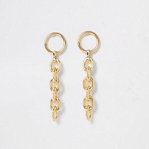 Pendants d'oreilles dorés à chaînes