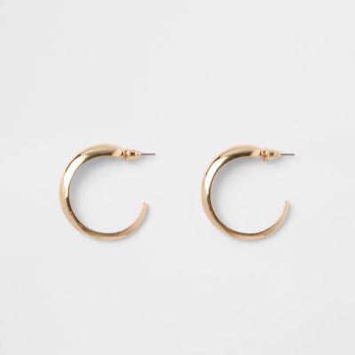 Gold Tone Mini Hoop Earrings by River Island