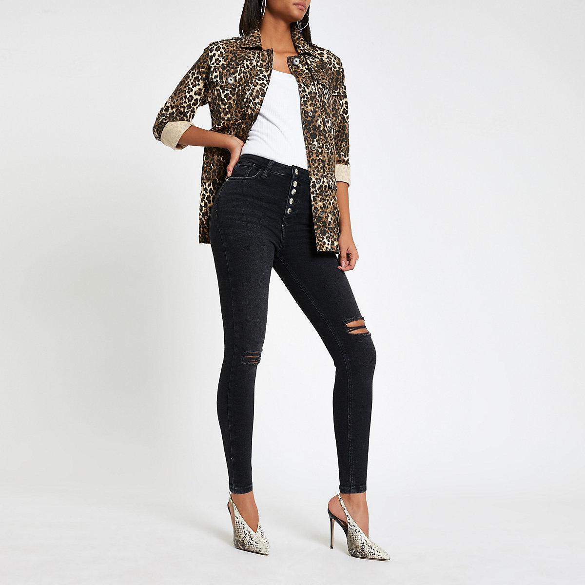 Black Hailey high rise jeans