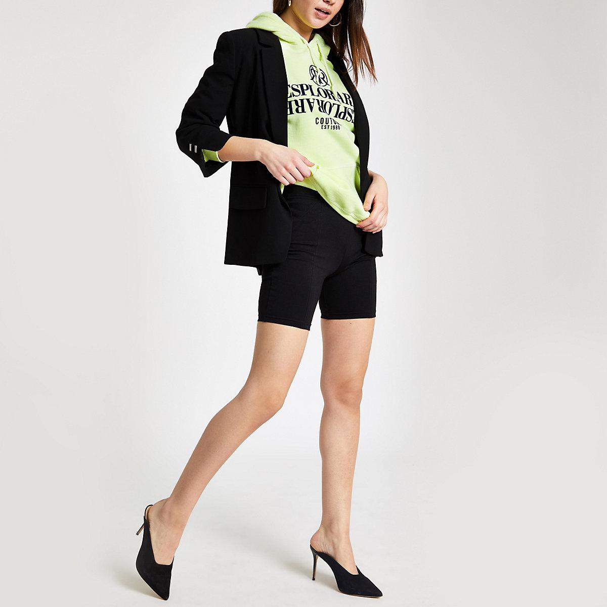 Black ponte cycling shorts