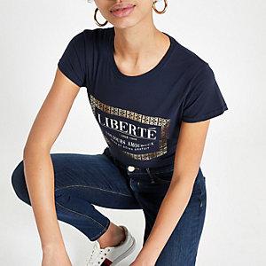 fee5386e87db1 Top à imprimé « Uptown bronx » orange délavé à l'acide - T-shirts ...