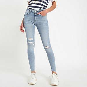 Light blue Amelie ripped jeans