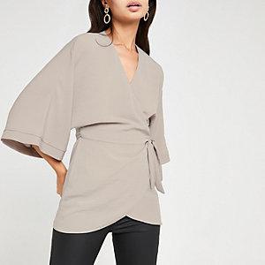 Grey kimono T-shirt