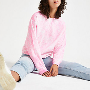 Pink tie dye 'global utility' sweatshirt
