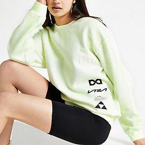 Yellow tie dye 'global utility' sweatshirt