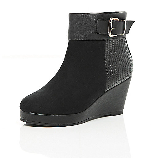 River Island Black Wedge Boots - Gommap Blog
