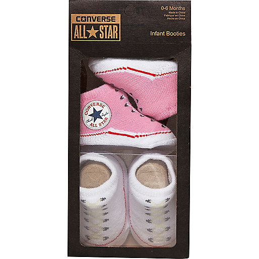 Mini girls pink Converse booties