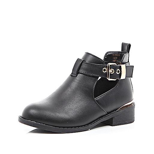 Girls black cut out boot - Footwear - Sale - girls