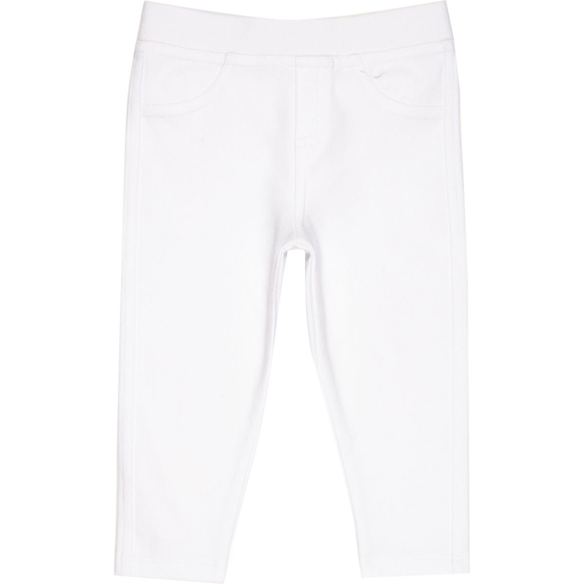 Legging imitation jean blanc mini fille