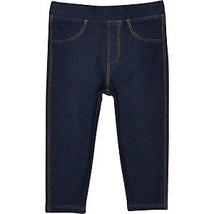 Dunkle Leggings in Jeans-Optik