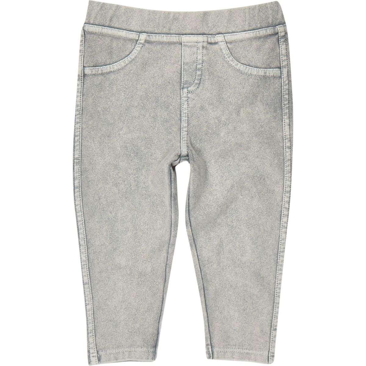 Legging en jean gris clair mini fille