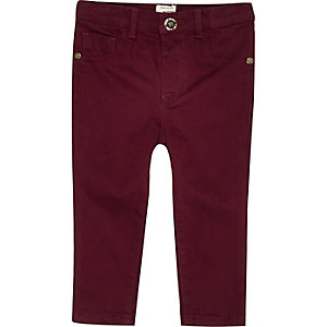 Mini girls berry red denim jeans
