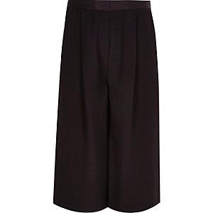 Girls dark purple long culottes