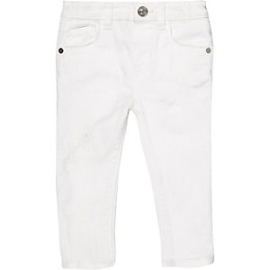 Mini girls white skinny jeans