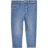 Mini girls blue skinny jeans