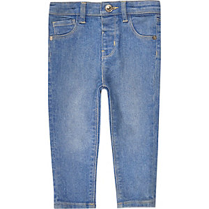 Mini girls blue skinny jeans