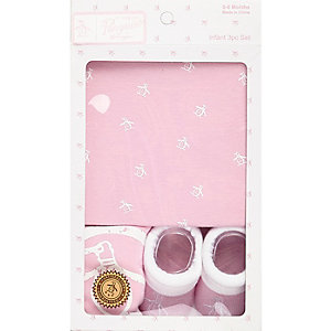 Mini girls light pink Penguin gift set