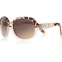 Girls brown tortoise oversized sunglasses