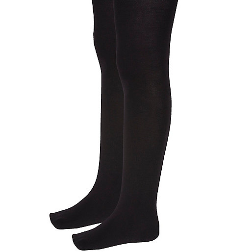 Girls black tights multipack