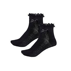 Schwarze gerüschte Socken im Multipack