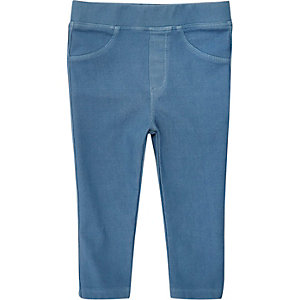 Mini girls light blue jeggings