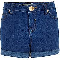 Leuchtend blaue Jeansshorts für Mädchen
