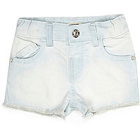 Mini girls light wash denim shorts