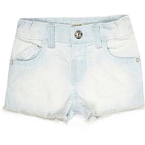 Mini girls light wash denim shorts