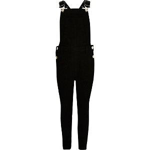 Girls black overalls