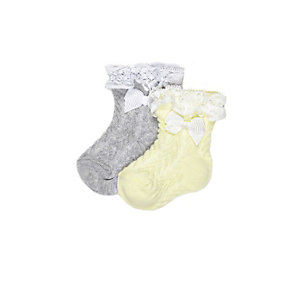 Mini girls yellow socks multipack