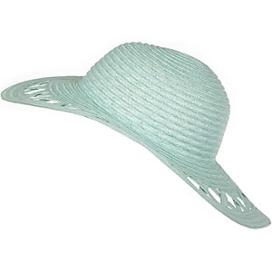 Girls mint floppy hat