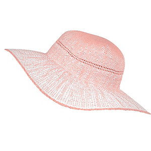 Girls pink ombre floppy hat