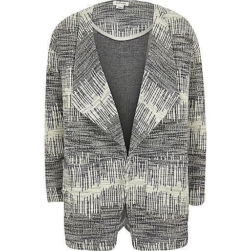 Girls black knitted draped jacket