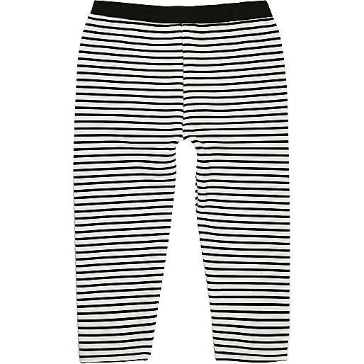 Mini girls stripe leggings