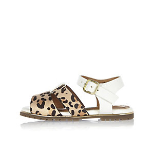 Mini girls leopard print sandals