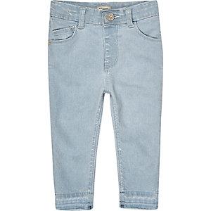 Mini girls light blue wash skinny jeans