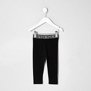 Zwarte legging met logo voor mini girls