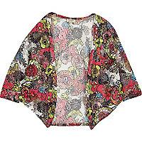 Rood vest met bloemenprint voor meisjes