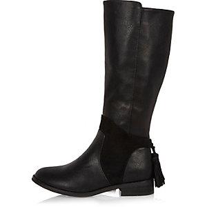 Bottes de cavalière noires aux genoux pour fille