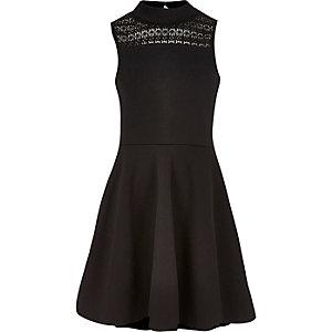 Zwarte kanten jurk voor meisjes